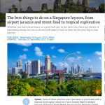 SCMP Travel: Singapore layover