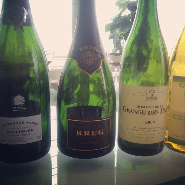todays-damage-krug-1998-bollinger-ros-2004-grand-des-peres-2009-williams-selyem-2008_8708928081_o