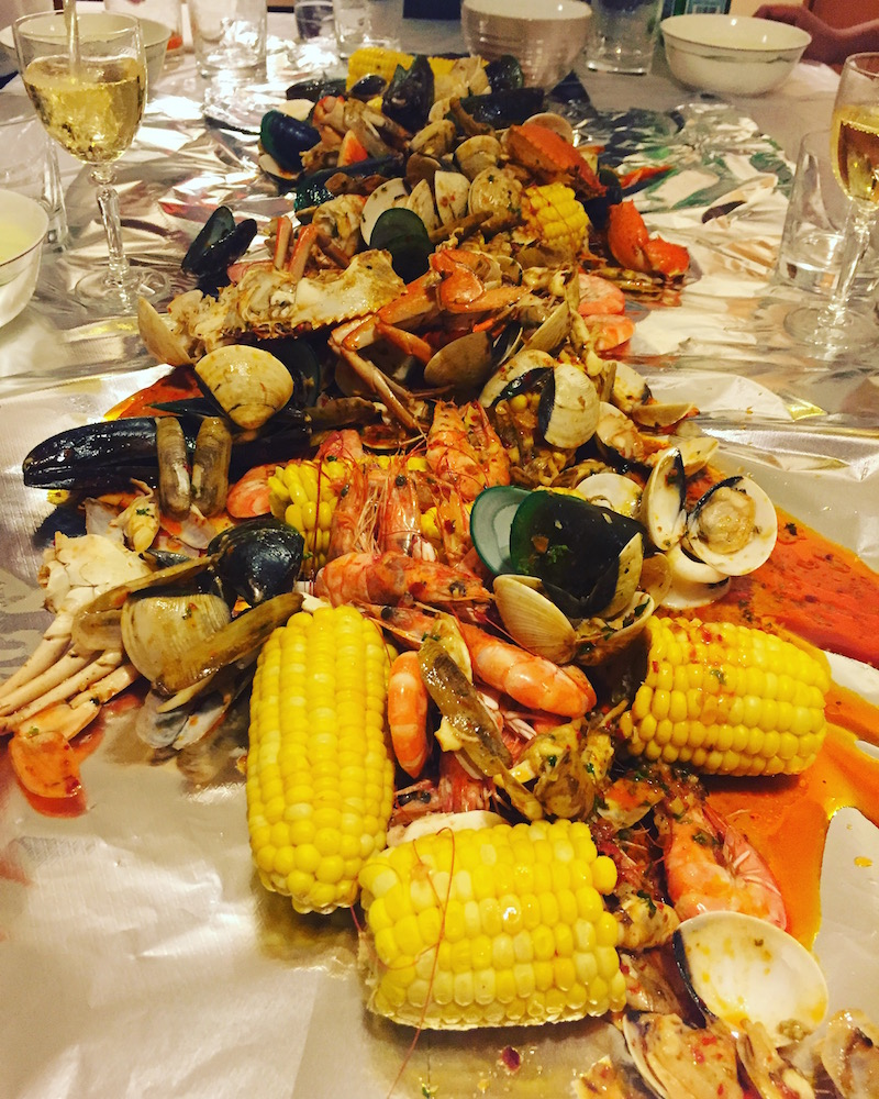 new orleans style seafood spread