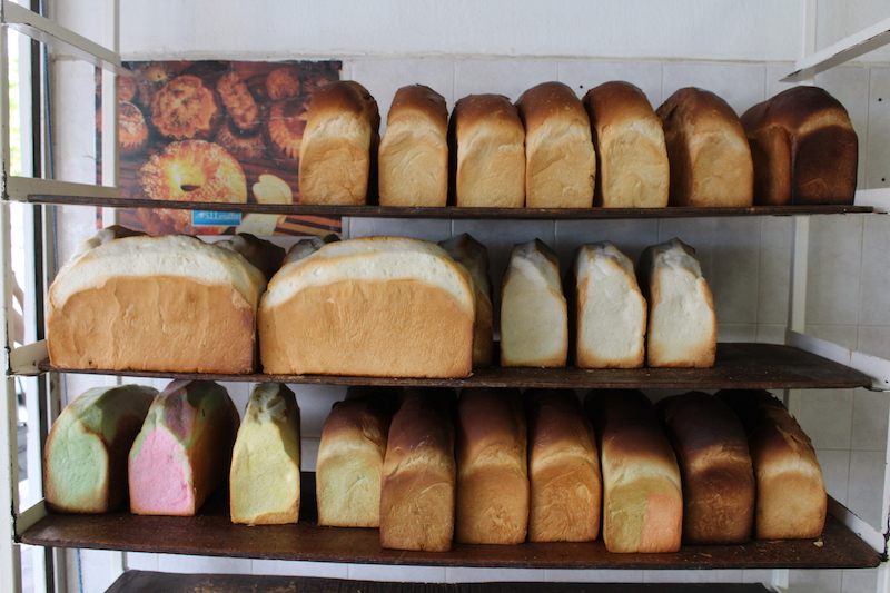 different loaves of white breads