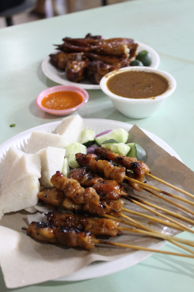 satay and chicken wings