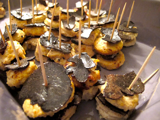 black truffles canapes