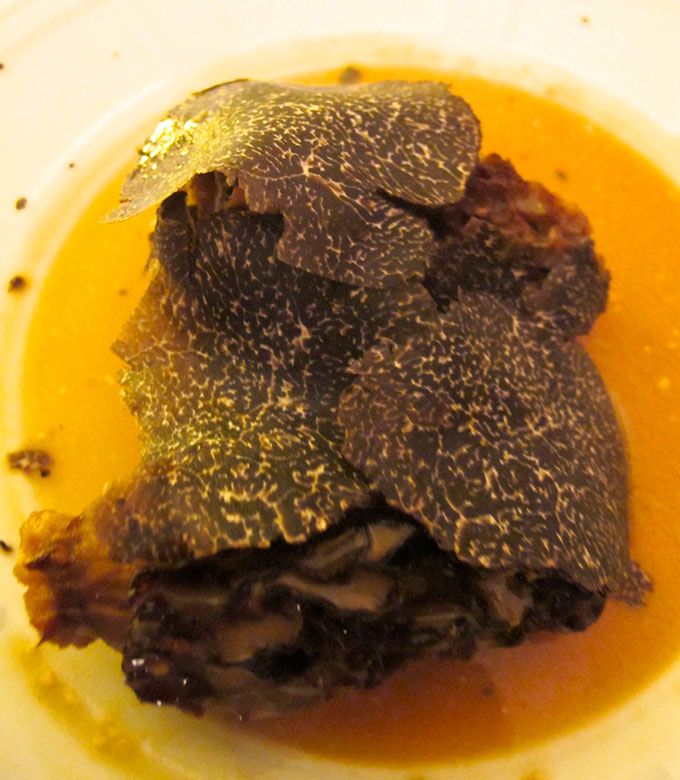 morels and black truffles
