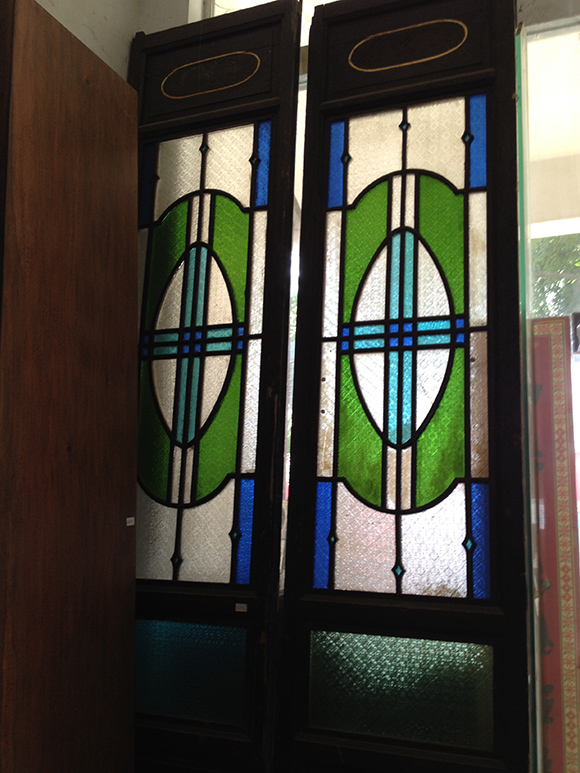 stain glass doors zhong shan