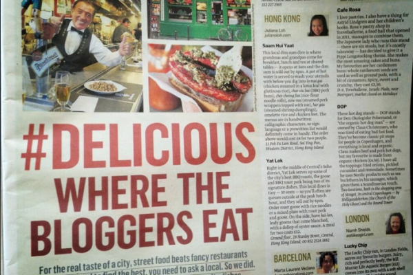 World's best food bloggers Sunday Times